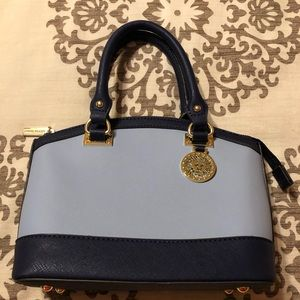 Ann Klein two tone blue handbag